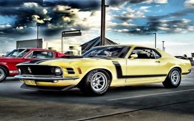 Fond d'écran : dessin, véhicule, des nuages, Ford Mustang, Voitures rouges, Voitures musculaires ...