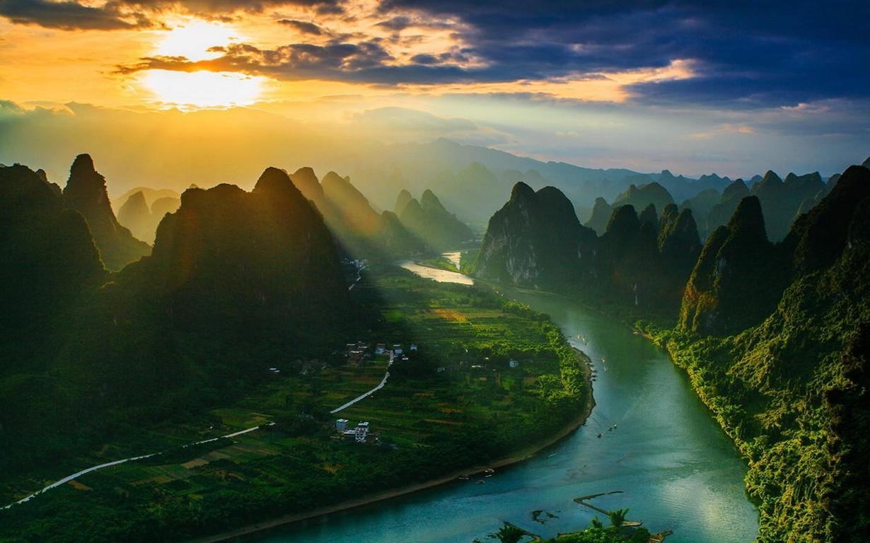 Niagara Falls 4k Wallpaper Wallpaper Sunlight Landscape Mountains Sunset China