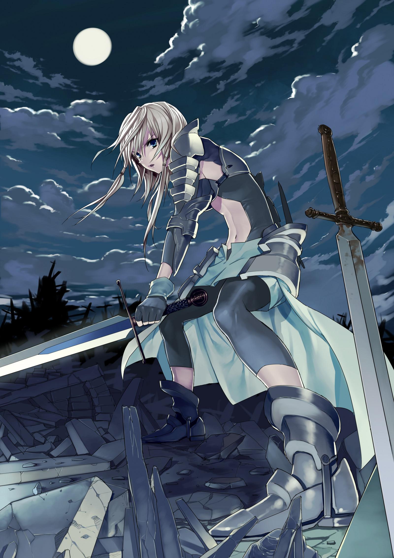 Gothic Girl Wallpaper Fantasy Wallpaper Fantasy Girl Blonde Night Long Hair Anime