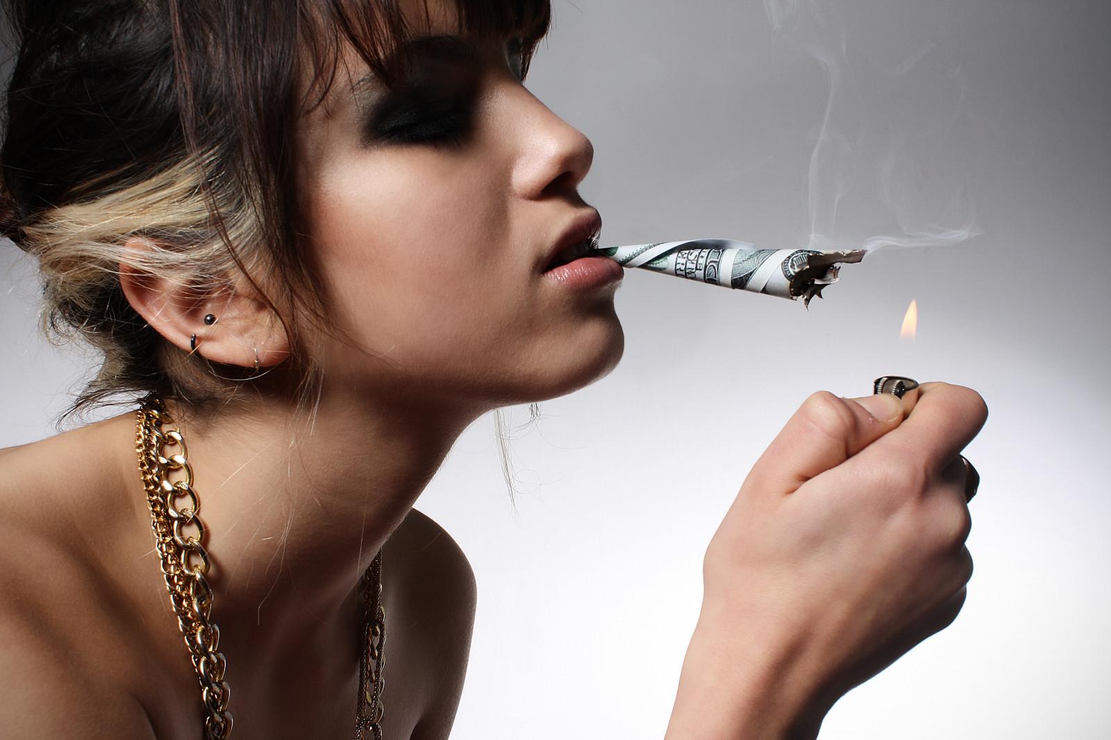 Girls Smoking Weed Hd Wallpaper Wallpaper Face Model Portrait Closed Eyes Brunette