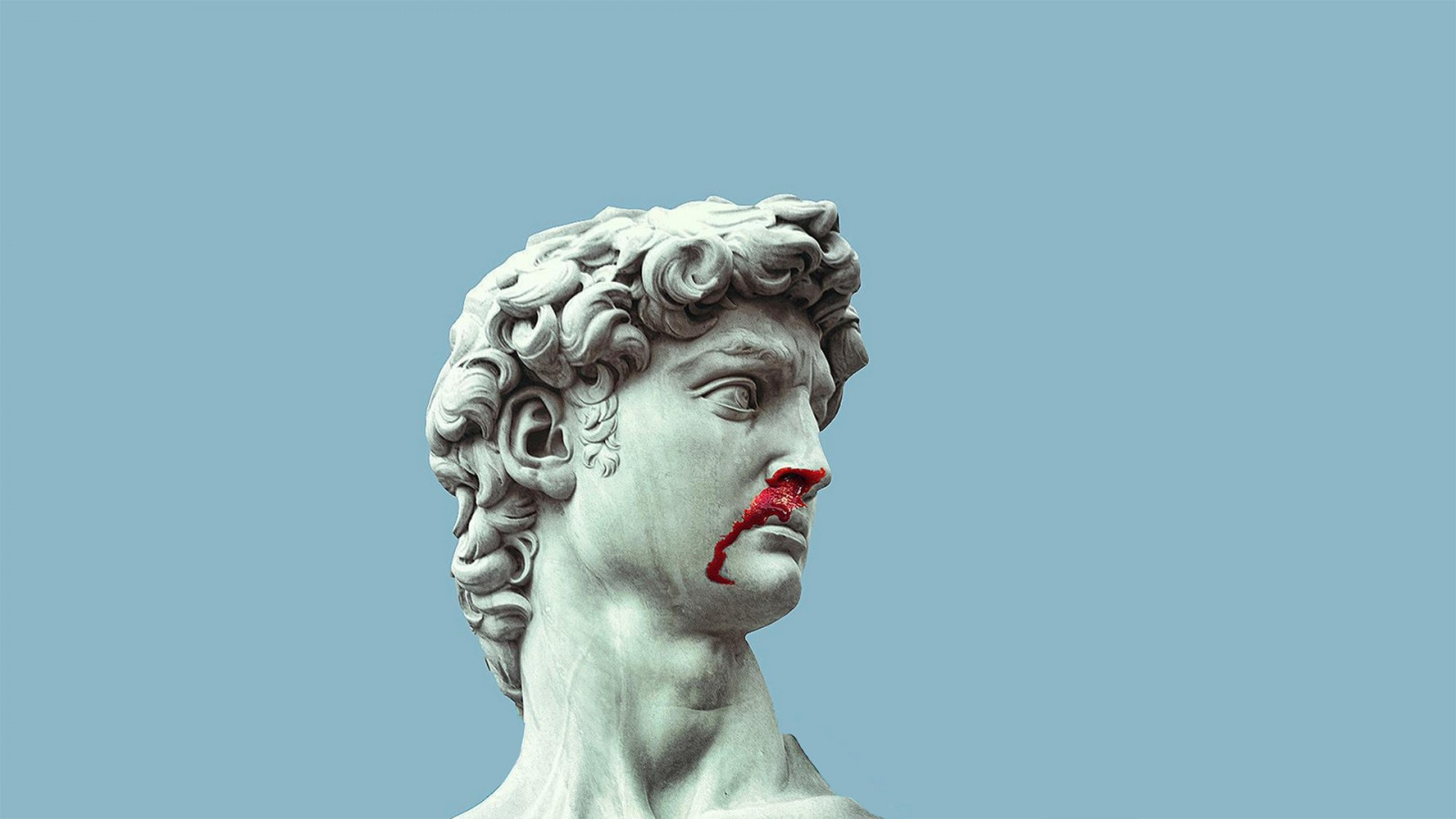 Vaporwave Car Wallpaper Wallpaper 1920x1080 Px Blood Marble Statue Of David