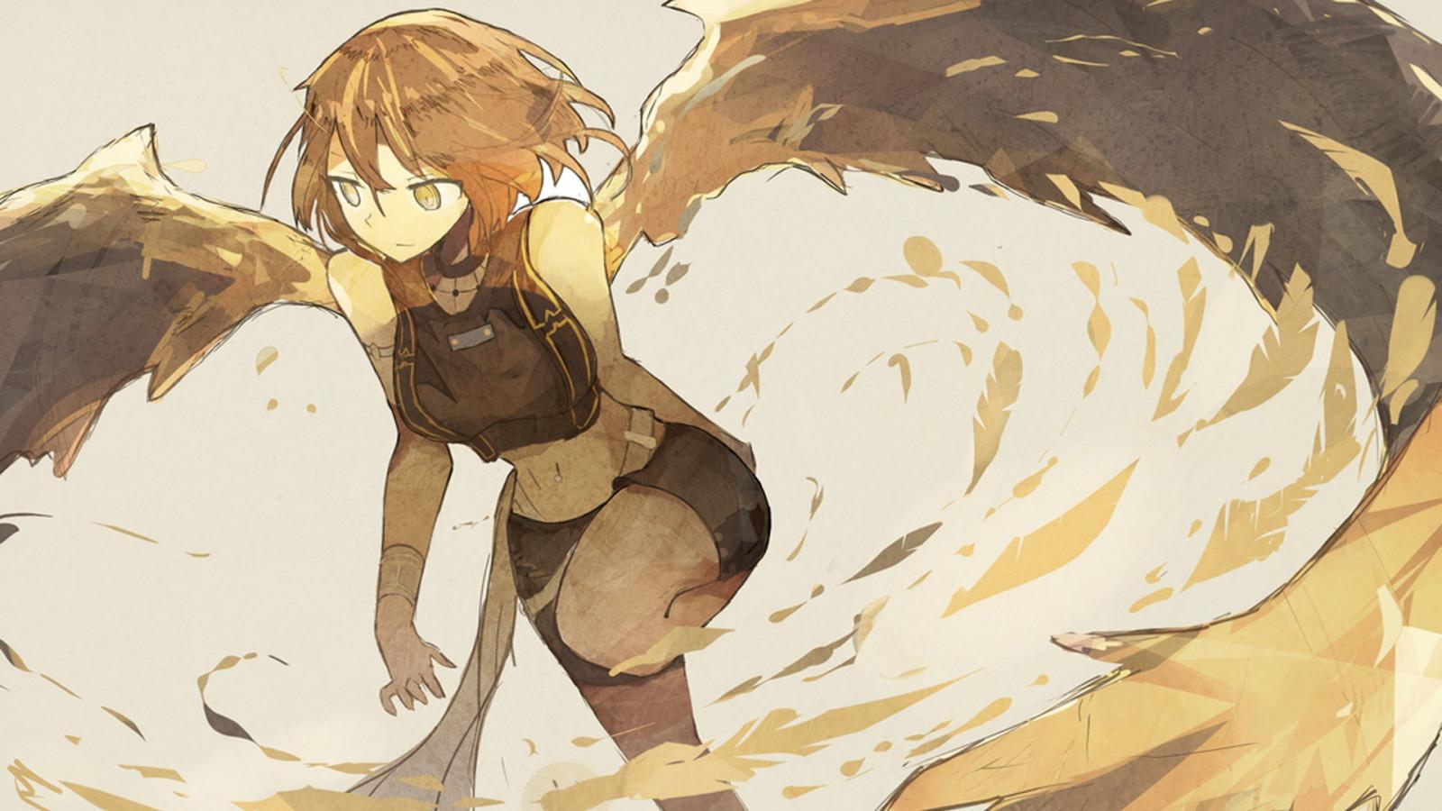 New Cute Girl Wallpaper Download Wallpaper Drawing Illustration Anime Girls Wings