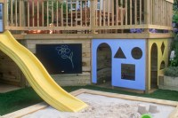 Plesk: Access Under deck storage shed plans