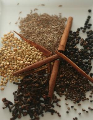 Garam masala spices.
