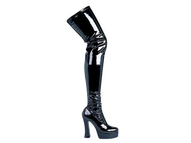 Black Patent Leather Thigh High Platform Boots Neweggcom