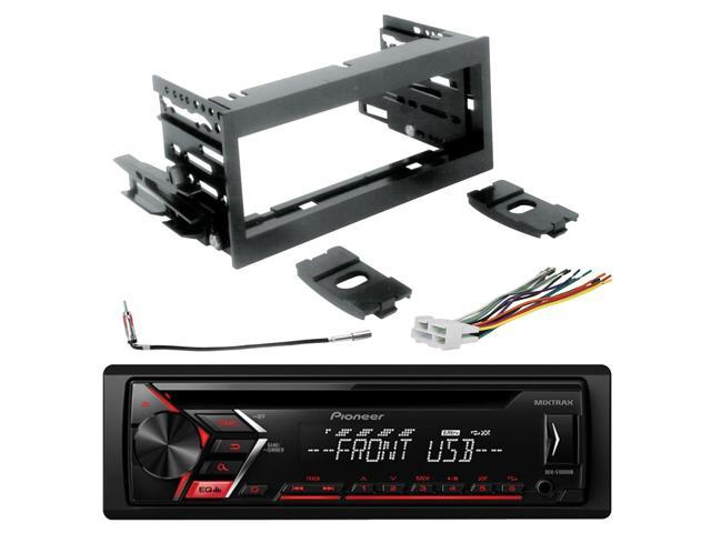 Pioneer DEH-S1000UB CD Single-DIN AM/FM Car Stereo, Scosche GM1483B