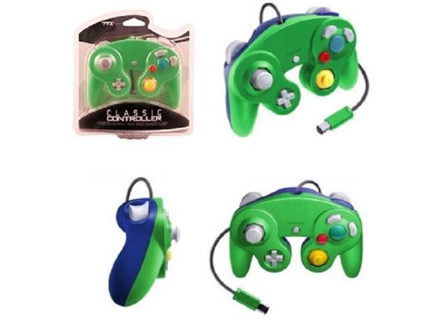 Controller for Nintendo GameCube or Wii -- Green / Blue LUIGI
