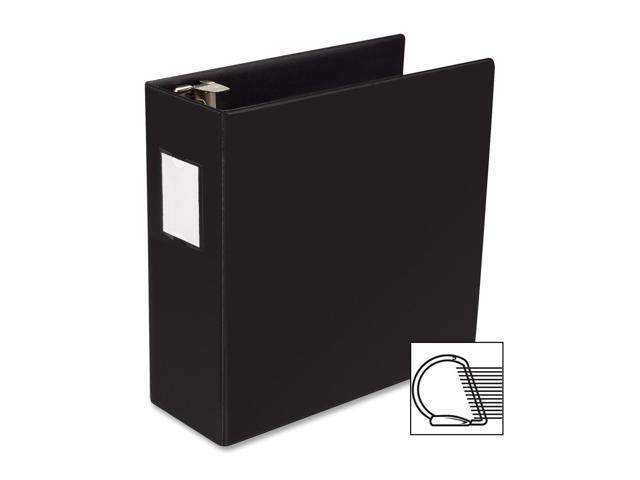 D Ring Binder W Label Holder Hvy Dty 4quot Black Neweggcom