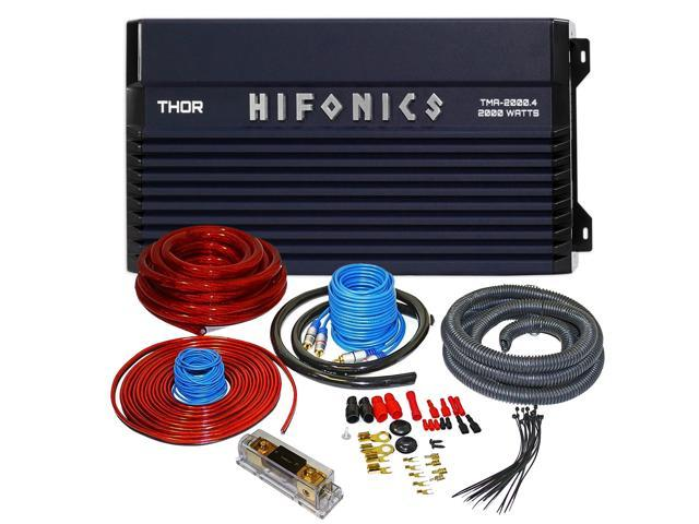 Hifonics TMA-20004 2000W 4-Channle Marine Boat Amplifier + WIRING