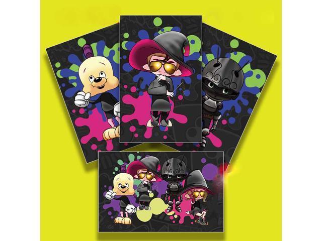 New 3pcs Splatoon 2 Real Octopus Boy and Girl AMIIBO NFC TAG