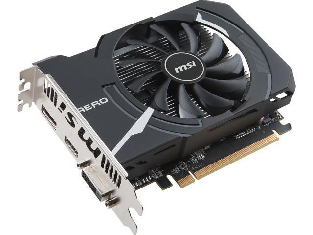 MSI Radeon RX 560 DirectX 12 RX 560 AERO ITX 4G OC Video Card