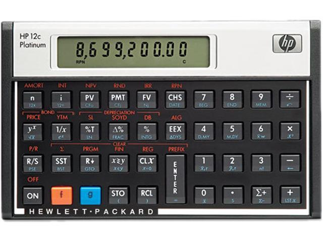 HP 12CP Platinum Financial Calculator, 10-Digit LCD - Newegg