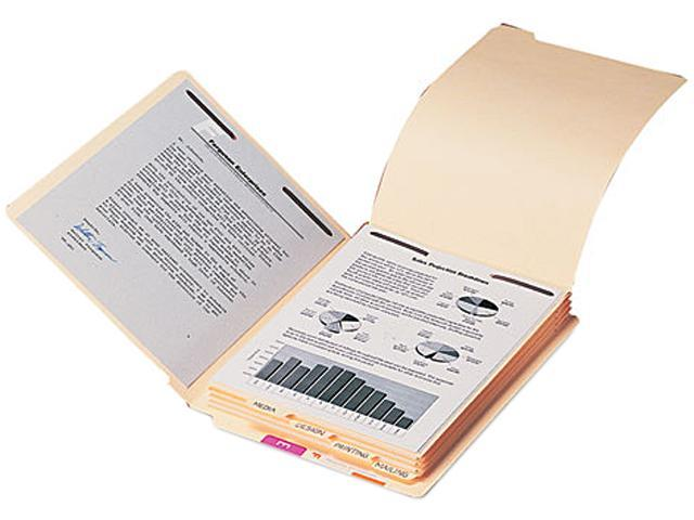 Smead 35600 Stackable End Tab Folder Dividers with Fastener, Letter