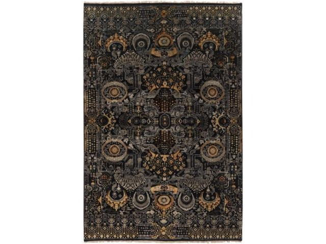 239 X 339 Royal Dreams Midnight Black And Gold Wool Area