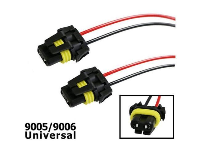iJDMTOY (2) 900-Series 9005 9006 Female Adapter Wiring Harness