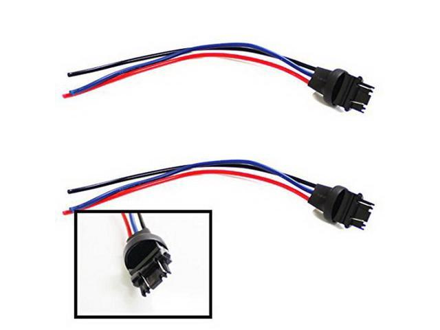 iJDMTOY (2) 3156/3157 Male Adapter Wiring Harness For Car