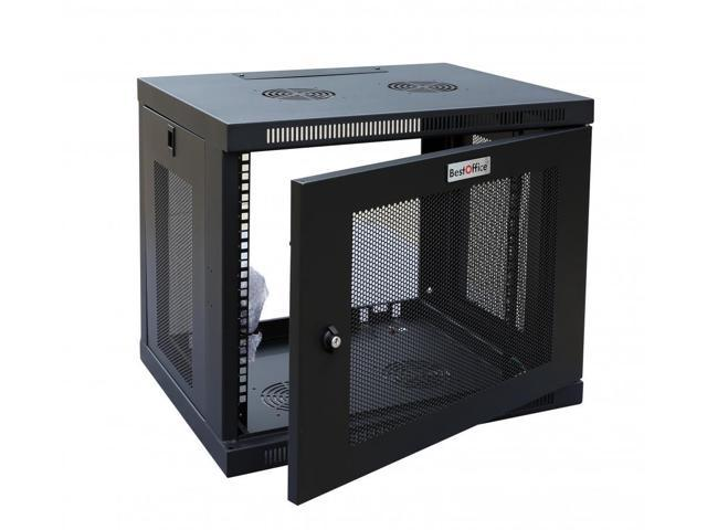 New Black 12u Wall Mount Rack Enclosure Server Cabinet