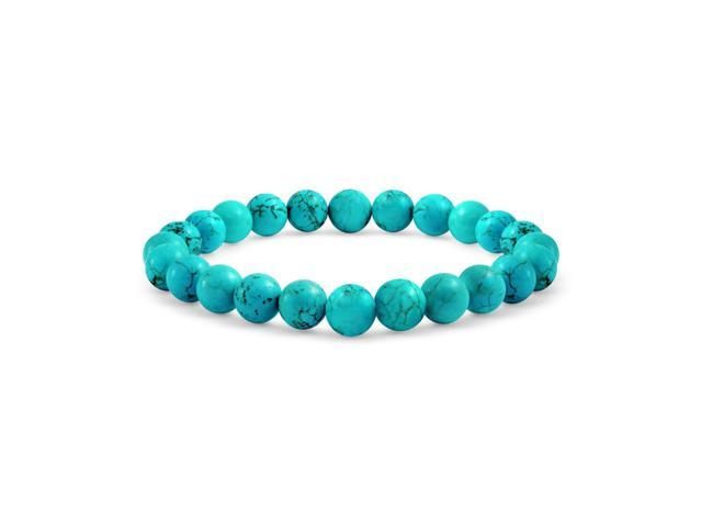 Gemstone Blue Reconstituted Turquoise Bead Stretch