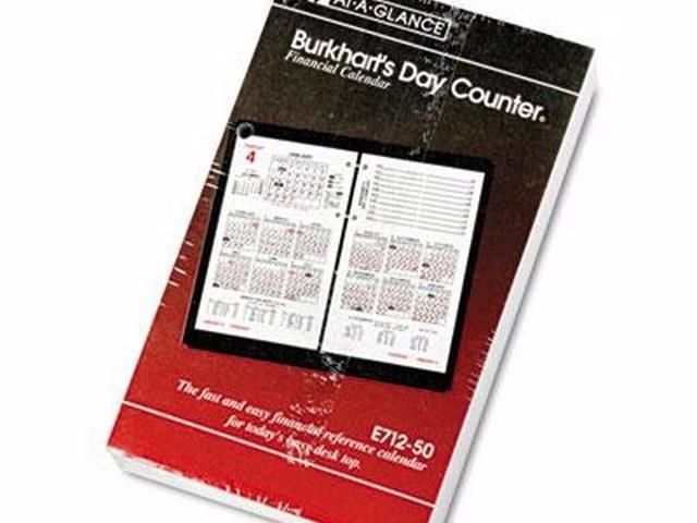 AT-A-GLANCE Burkhart\u0027s Day Counter Desk Calendar Refill