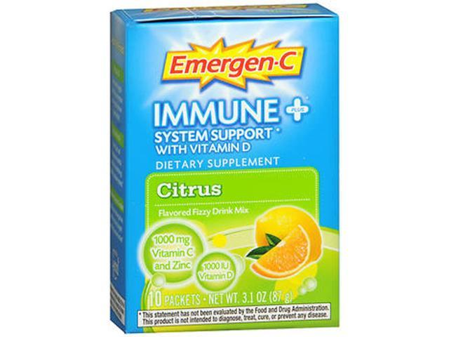 Emergen C Immune System Support Drink Mix Packets Citrus