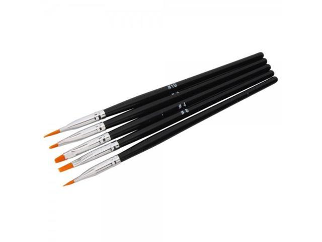 5pcs Professional Uv Gel Nail Art Painting Pen Brush