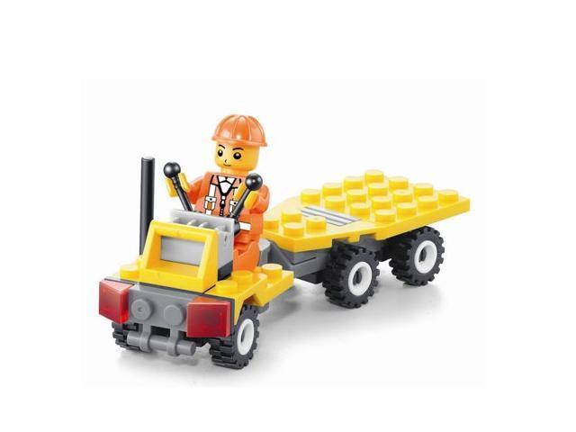 Jie Star 21007 City construction team Building blocks Forklift