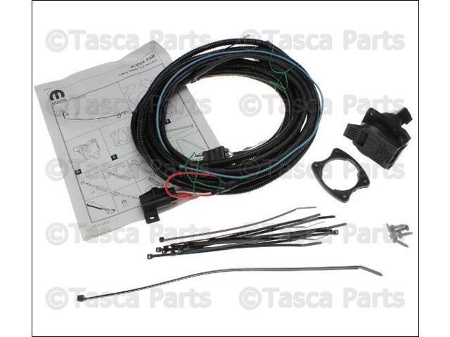 OEM Mopar Trailer Tow Wiring Harness Kit 2002-09 Dodge Ram Trucks