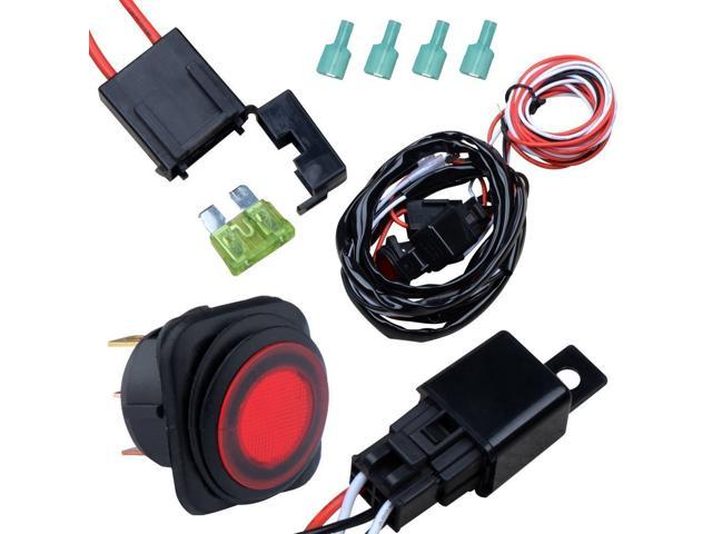 Off Road ATV Jeep LED Light Bar Wiring Harness Kit 12V/40A Relay