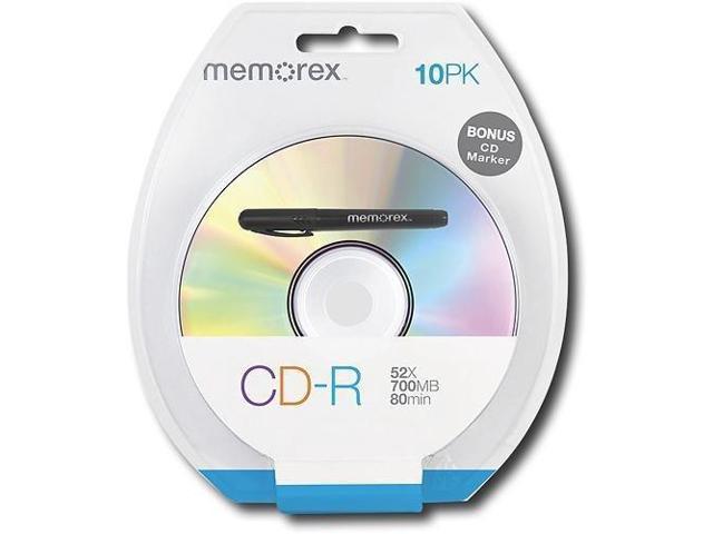 Memorex MEMCD-R/10S CD-R Spindle Blister with Bonus CD Marker