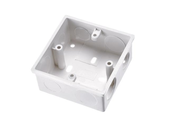 Surface Mount Wiring Box Electric Wire Outlet 86 Type PVC White