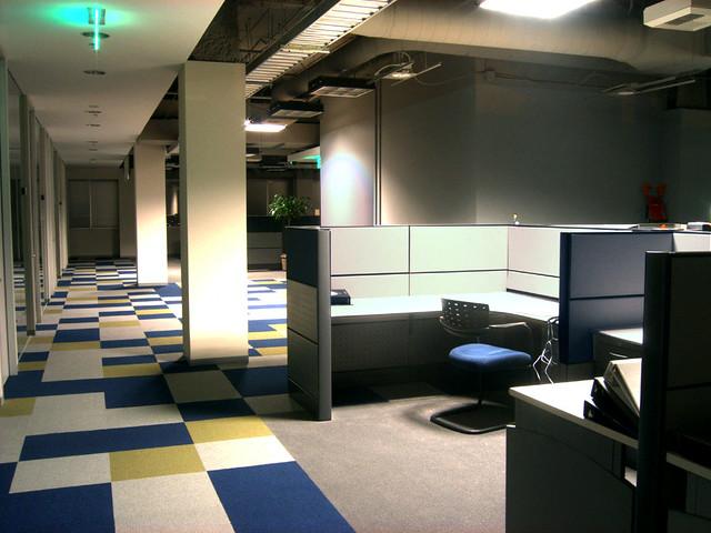 Spooky Office Empty Cubicle La Night Cathy Davies