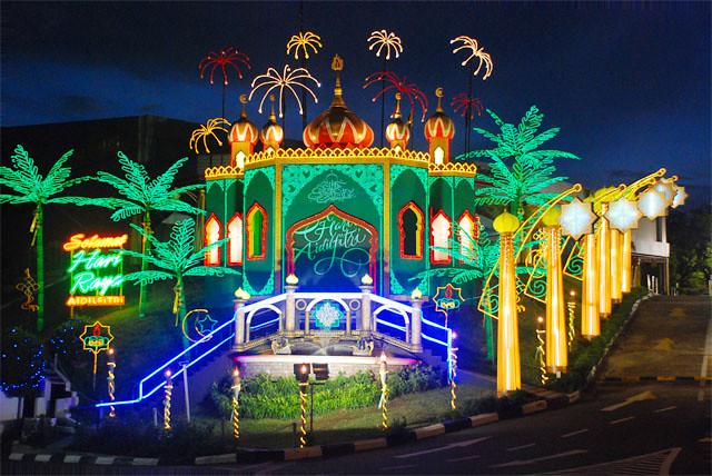 Eid Mubarak Wallpaper 3d Nbt Toyota S Hari Raya Celebration Neon Lights Ethan