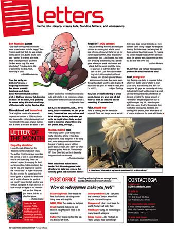 Letters Page EGM Magazine Tear Sheet from EGM Magazine Flickr