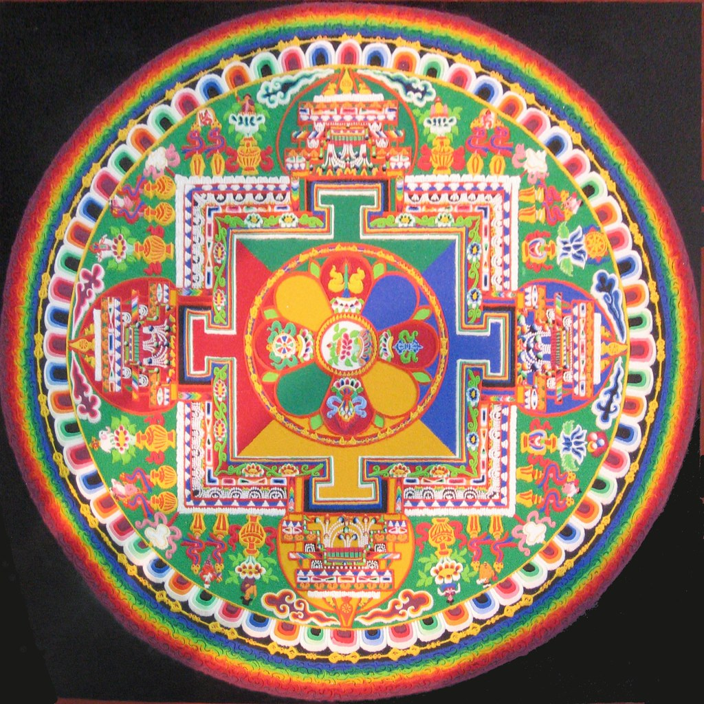 Om 3d Wallpaper Hd Sand Painting Mandala This Was Done By Tibetan Monks