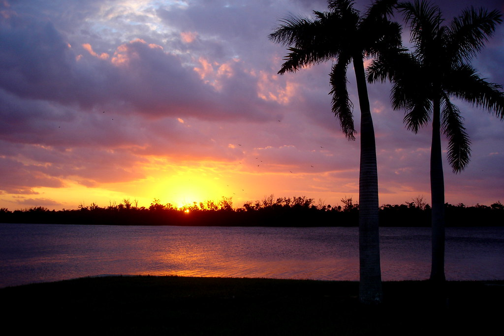 Free 3d Wallpaper And Screensavers Florida Sunset Sunset Over The Intracoastal Waterway