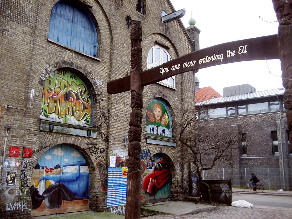 3d Street Wallpaper Christiania In Copenhagen Eddie Codel Flickr