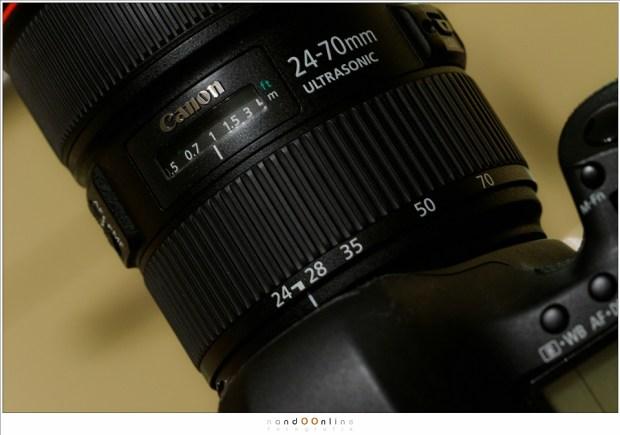 Een brandpunt van 24mm op een fullframe camera. Bij diafragma f/22 is de hyperfocale afstand 0,87 meter, Dit is bij benadering redelijk goed in te stellen. Alles vanaf 0,44 meter tot oneindig is dan aanvaardbaar scherp