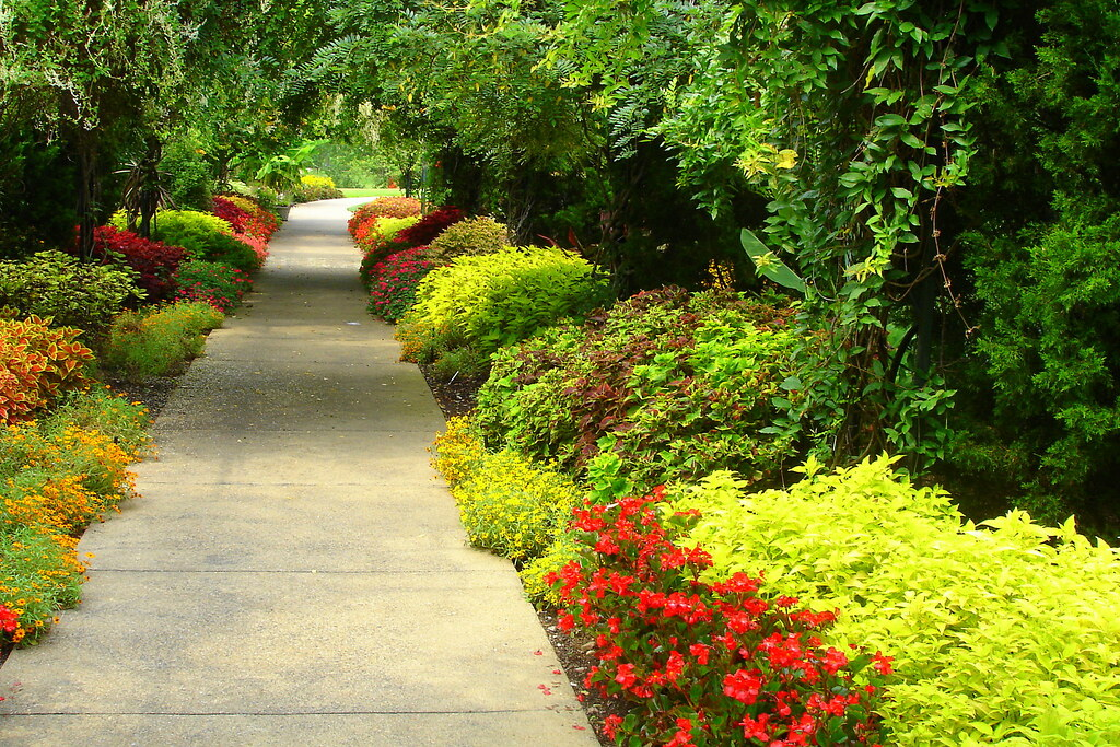 3d Flower Wallpaper For Pc Flower Path A Flower Path In Cheekwood Gardens