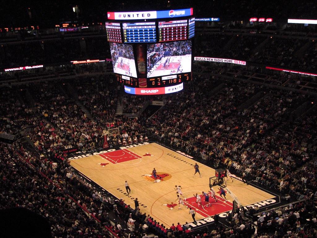3d Chicago Bulls Wallpaper United Center Court Chicago Bulls Vs Detroit Pistons At