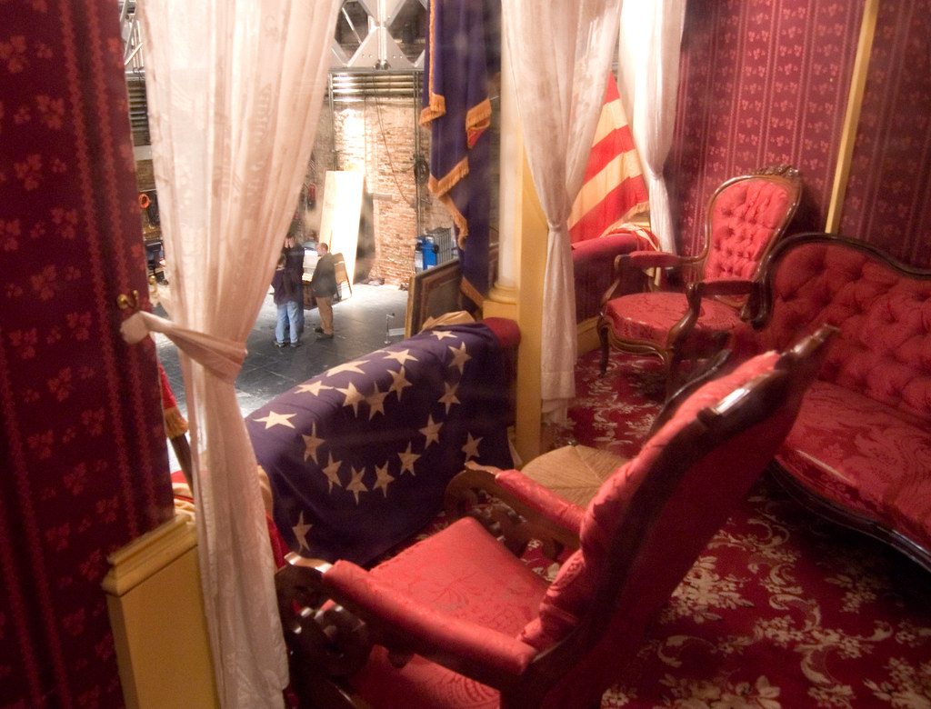 Plexiglas Box Lincoln's Seat In The Ford Theatre | The Booth Is