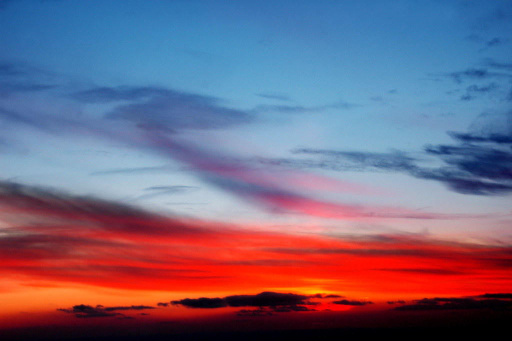 3d Wallpaper Red Blue Blue And Red Sunset Somerset Nj Taken On A Flight From