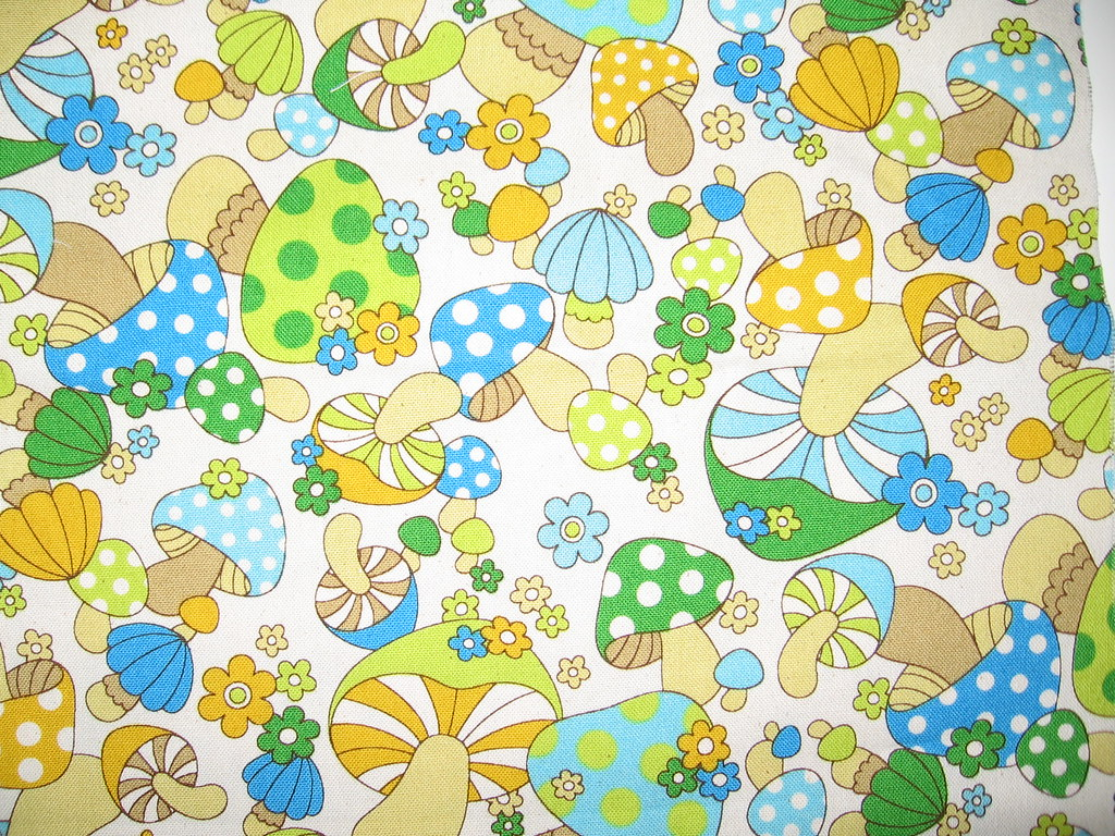 Cute Camera Wallpaper Cute Vintage Mushroom Fabric I Discovered This Amazing