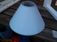 Small light blue lamp shade