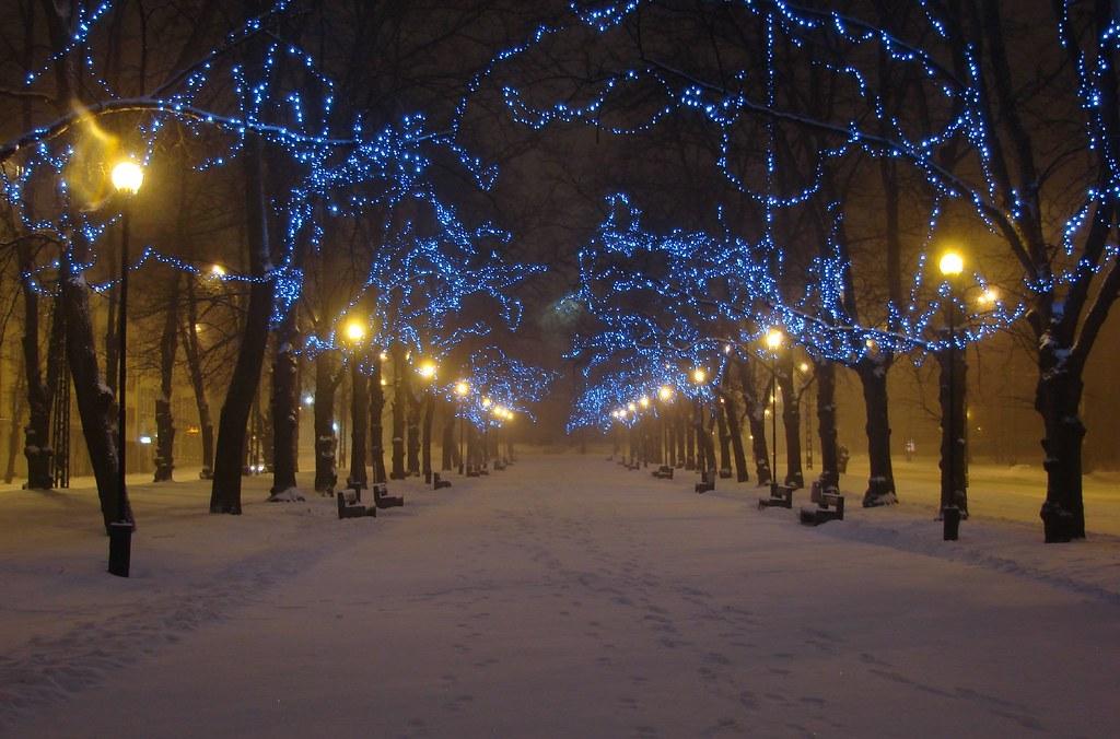 Good Night 3d Wallpaper Night Alley Winter In Blue Mark Vegas Flickr
