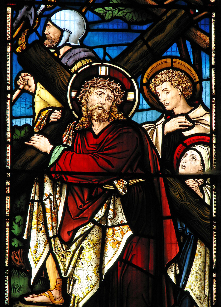 Jesus Christ 3d Wallpaper Christ Carrying The Cross At Cropredy Parish Church Flickr
