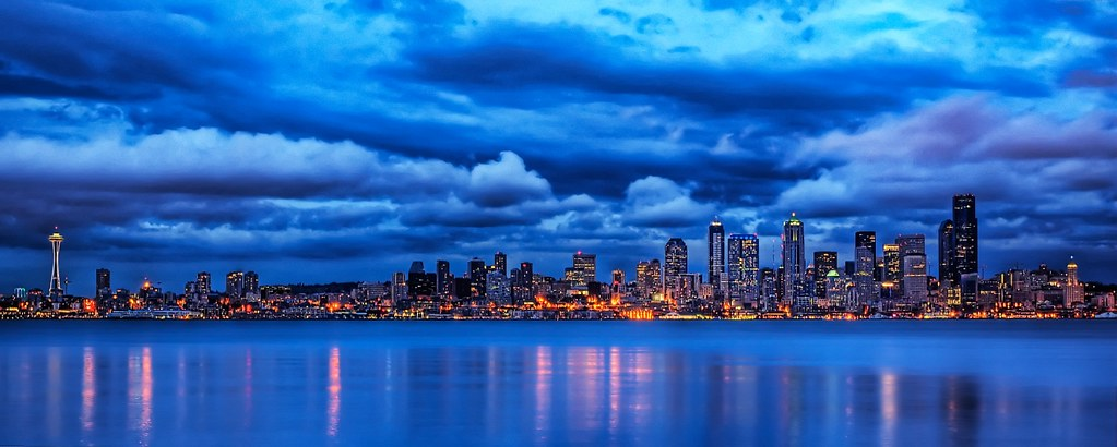 Hd Wallpaper Of World Seattle Blues This Is A Photo Of The Seattle Skyline