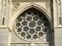 Cathedral window | A closer view of the large window on ...