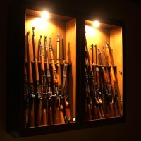 Gun cabinet at night | Another shot of the gun cabinet ...