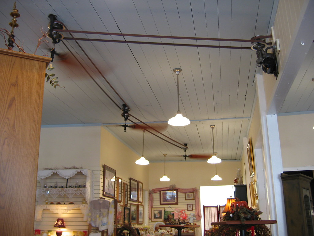 Belt Driven Ceiling Fans Ceiling Fans At Brewster Cafe These Were Neat A Modern
