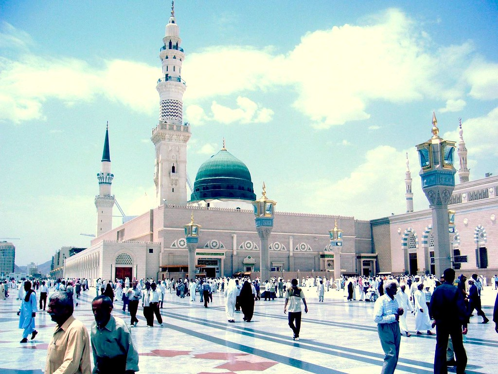 White 3d Wallpaper Hd Al Haram This Is The Prophet Mosque In Al Madina Al
